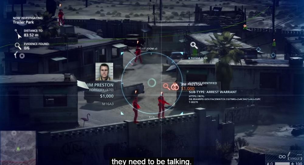 Battlefield Hardline's scanner lets you overhear a lot of gossip.
