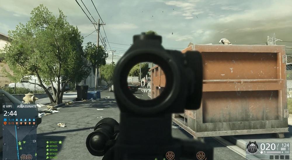 Battlefield Hardline multiplayer Crosshair mode.