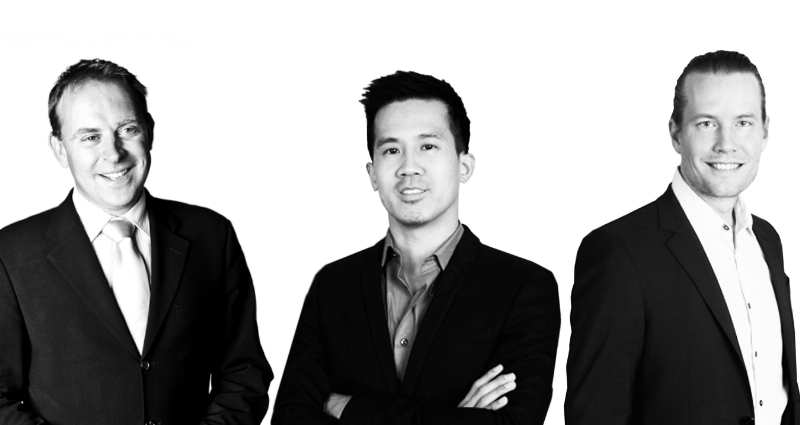 Charles Butler CEO Market Tech Holdings (left), Gary Lin Founder & CEO of Glispa (center), and Tim Nilsson Co-Founder & Managing Director of  Glispa.
