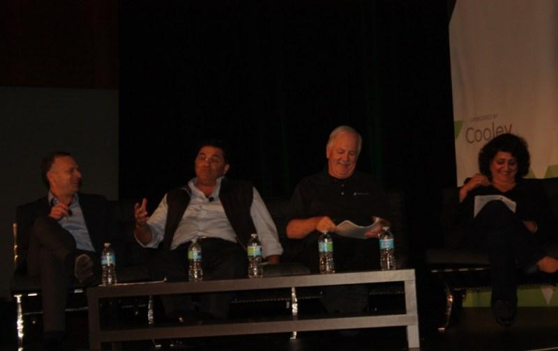 Nvidia contest judges (left to right) Jeff Herbst, Saeed Amidi, Rob Enderle, and Savitha Srinivasan.