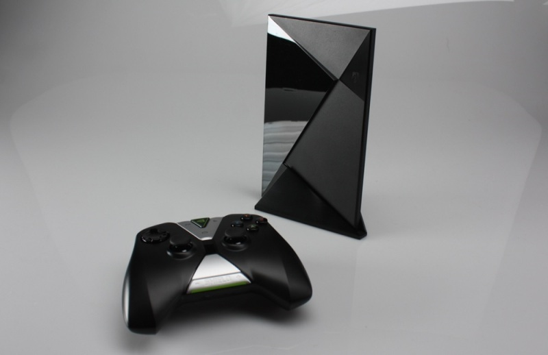 Nvidia Shield set-top box and controller.