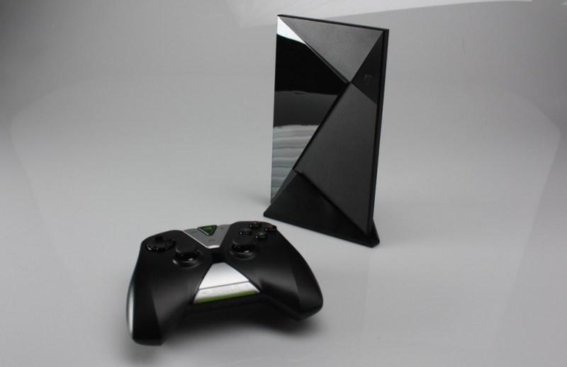 Nvidia Shield set-top box and controller.