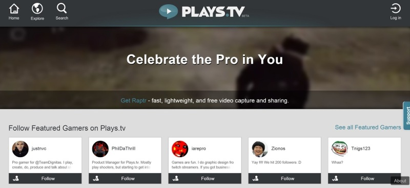 Plays.tv celebrates the pro gamer in you.