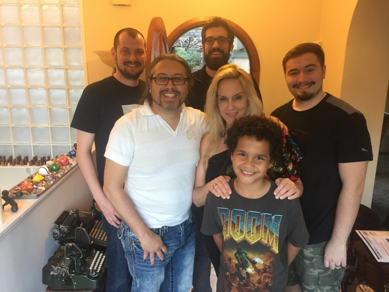 Romero family and friends: Michael, John, Brenda, and Donovan.