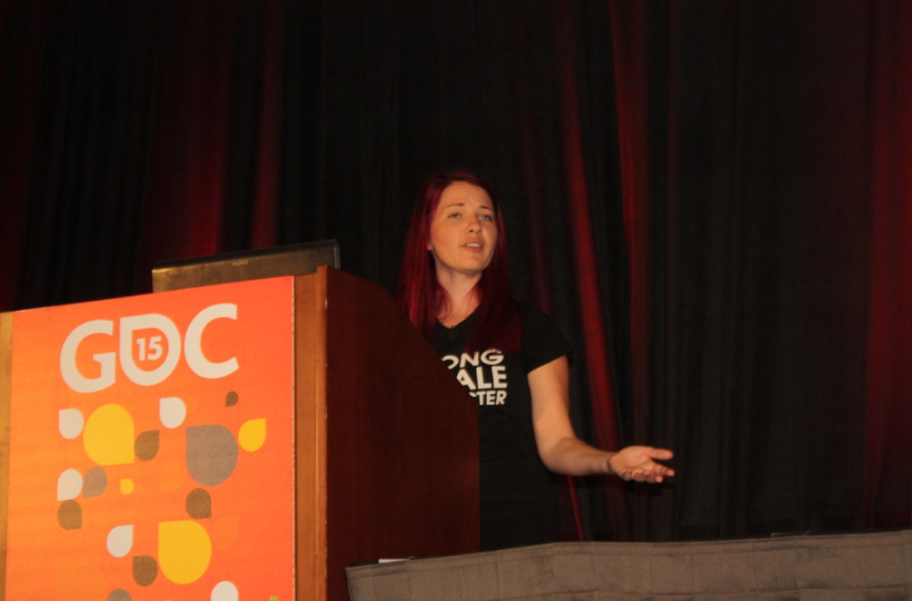 Theresa Duringer talks at GDC 2015 about the economy of favors for indie devs.