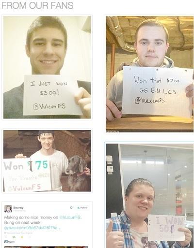 Vulcun.com winners