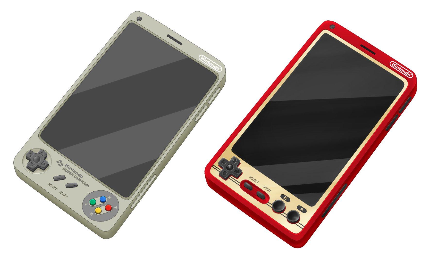 An artist render of a possible Nintendo smartphone.