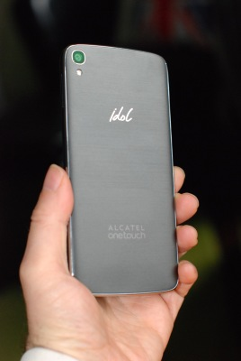 The back of the Idol 3 is no-nonsense and sophisticated - even with the Idol logo. Photo by Simon Cohen.