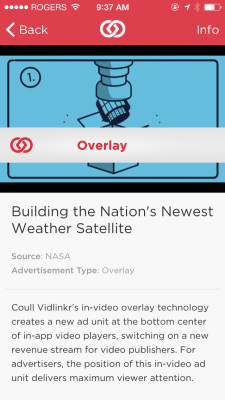 A demo video overlay mobile ad from Coull
