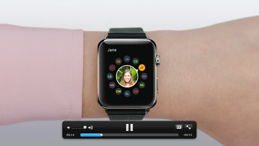 Apple's video demonstrating how to use the XXXX feature on the Apple Watch.