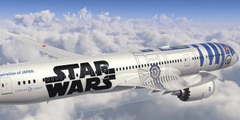 Fly the bleep-bloop skies (ANA's Star Wars-themed 787 Dreamliner)