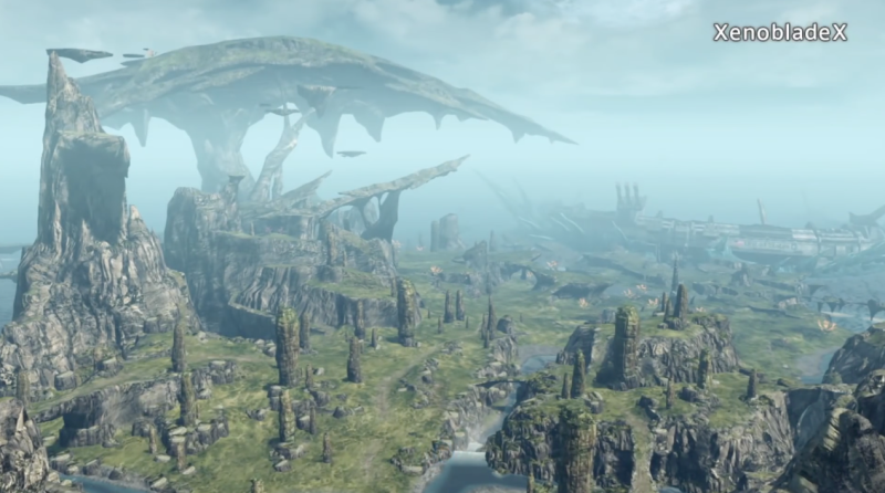This image is just one small section of one of five continents in Xenoblade Chronicles X