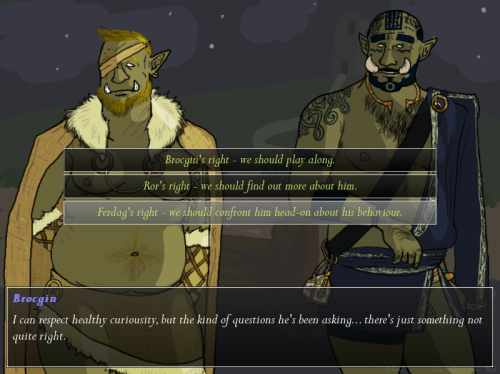 Tusks: The Orc Dating Sim - Choices