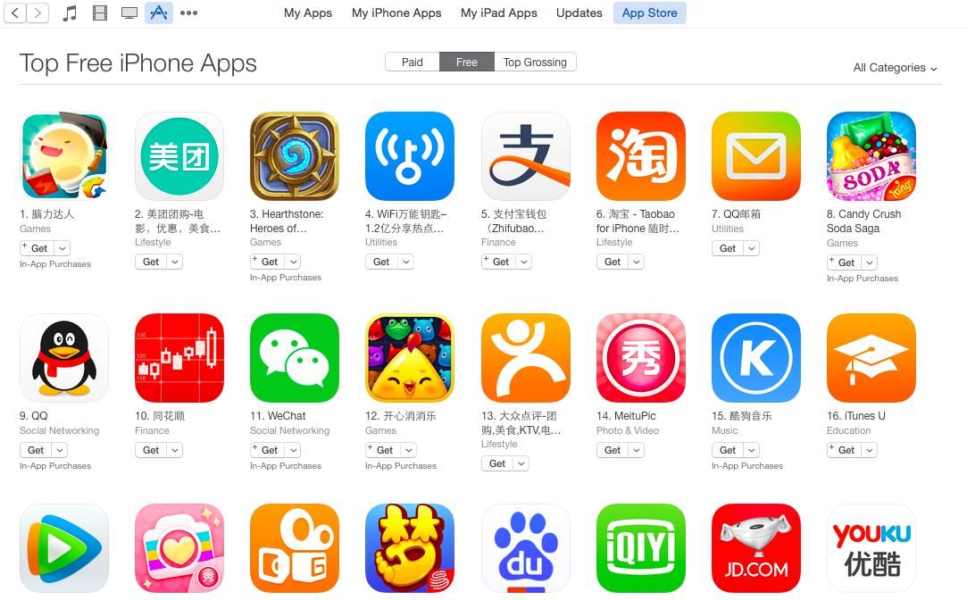 WeQuiz is the top free app in the market the downloads more iOS apps than anywhere else.