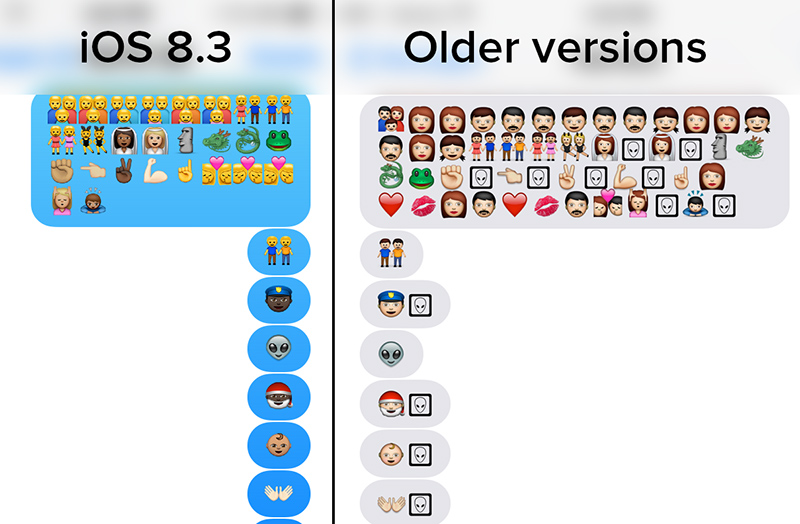 Apple's new emojis turn into aliens when sent to earlier ...