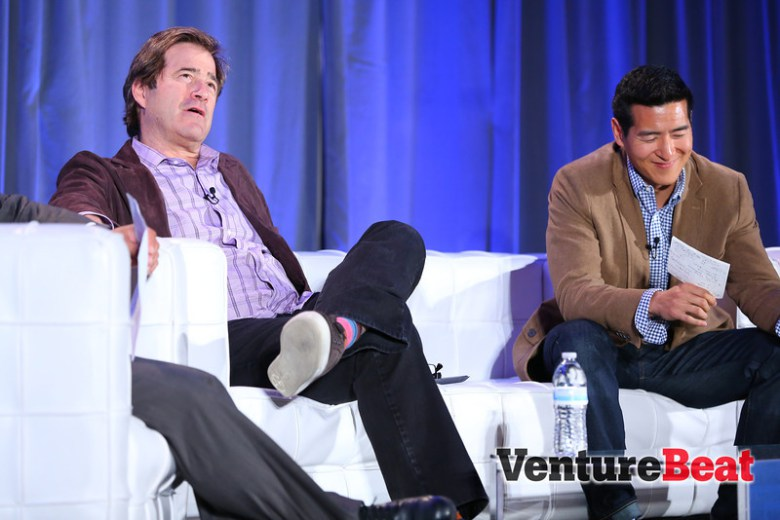 VCs Bing Gordon and Tim Chang at GamesBeat 2013.