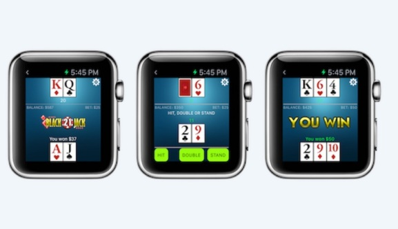 PlayScreen Embraces Apple Watch Tech With Blackjack Anywhere