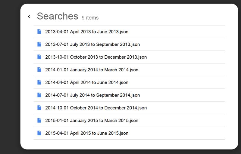 Google Search History Files
