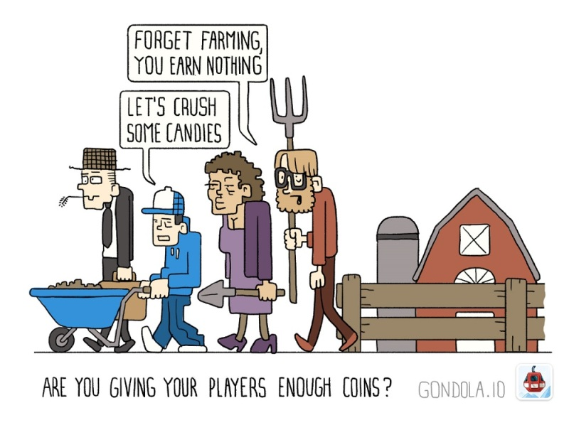 Gondola helps developers figure out how many free coins to give out.