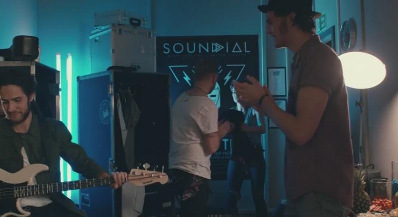 Backstage with Broken Tide in Guitar Hero