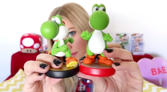 "Justine ""iJustine"" Ezarik shows off her Nintendo Amiibos"