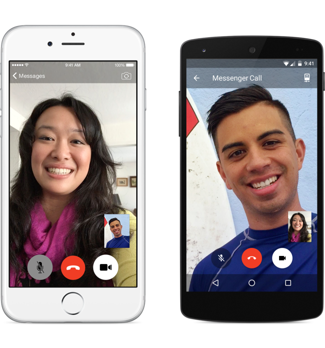 Facebook's video calling in Messenger.