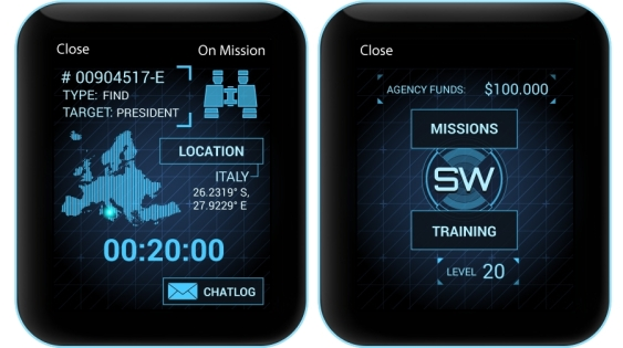 Bossa Studios' Spy_Watch uses Apple's own notification system to make you feel like a real secret spy.