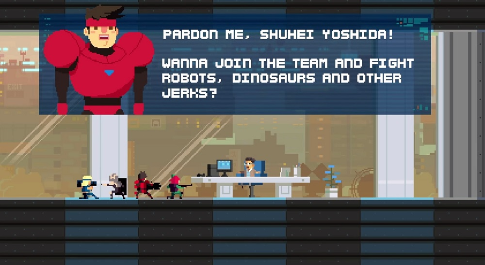 Super Time Force Ultra lets you play as Sony's game chief Shu Yoshida.