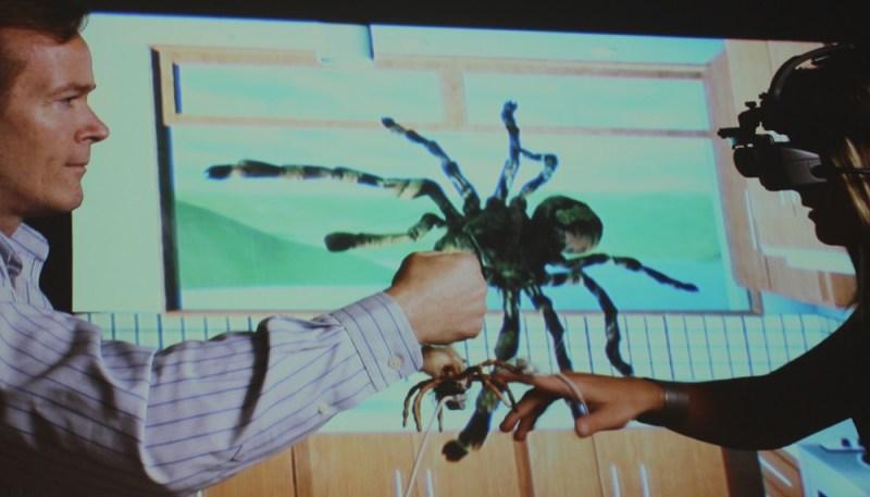 Using VR to treat arachnophobia.