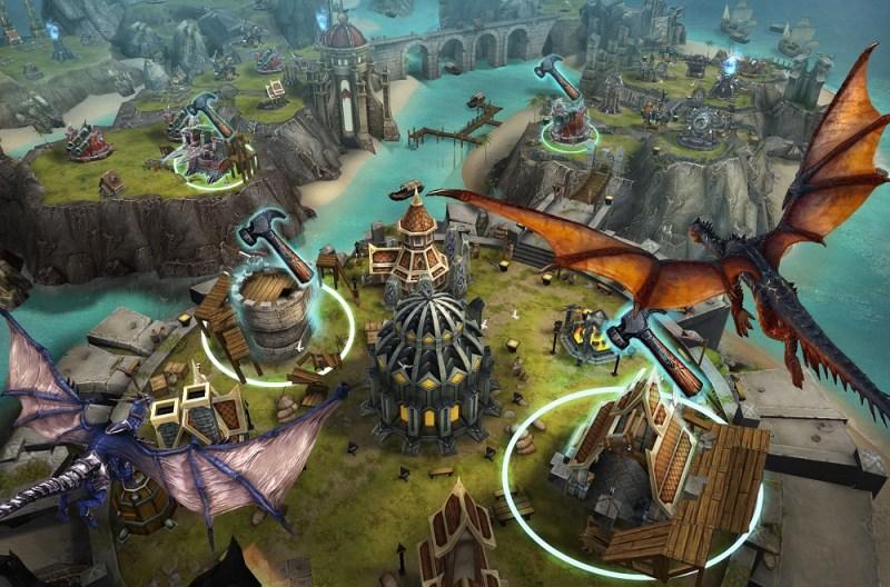 Building defenses in War Dragons