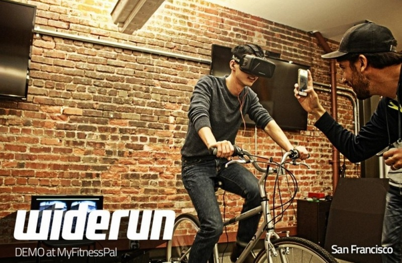 Widerun VR gives stationary bikers something better to look at.