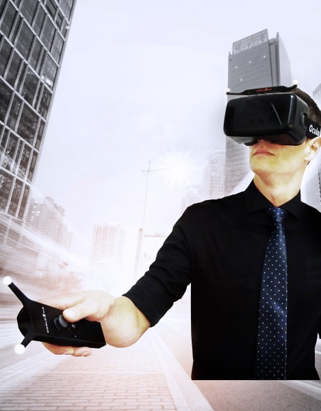 WorldViz uses gesture detection and Oculus Rift goggles to deliver presence in virtual reality.