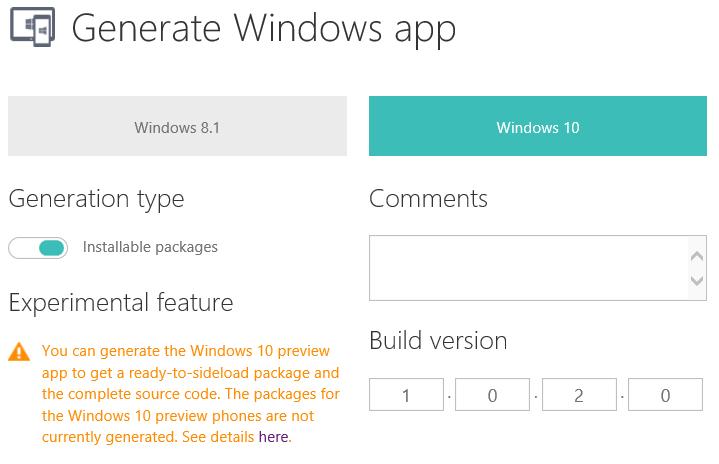 Windows App Studio now lets you build Windows 10 apps