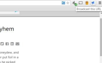 Broadcast URL: Chrome