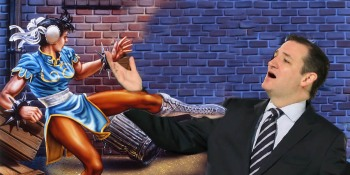 Republican presidential candidate Ted Cruz uses games to make himself seem more genuine