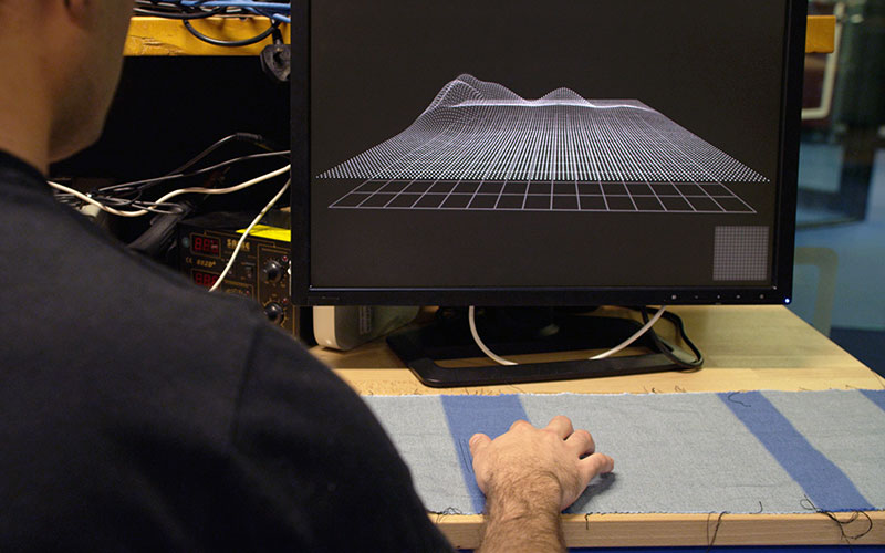 Google ATAP group's Project Jacquard smart textile.
