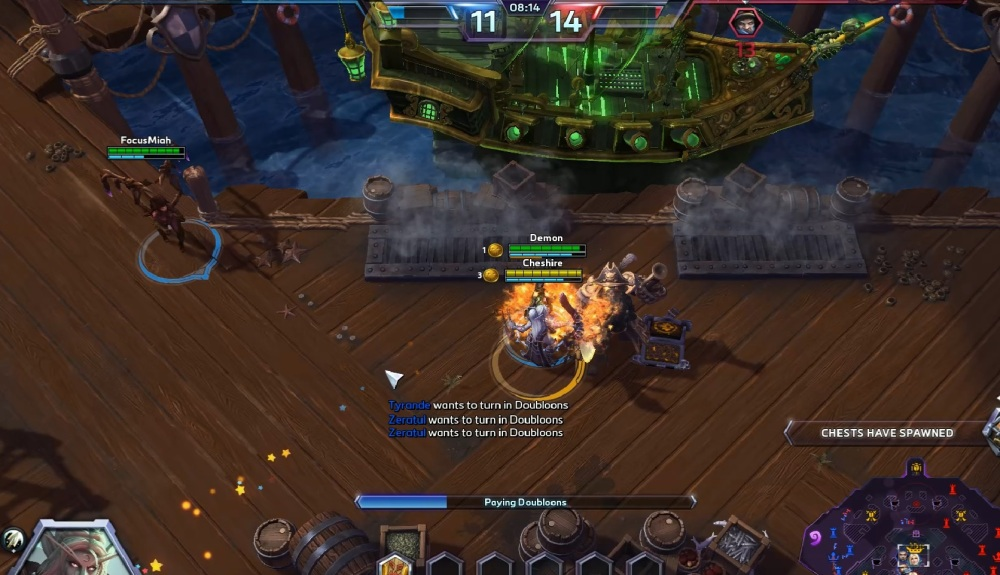 Heroes of the Storm Blackheart's Bay map