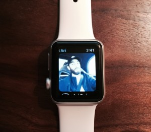 Glide video messages currently can be viewed on, but not sent from, the Watch.