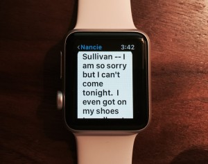 Apple Watch Text