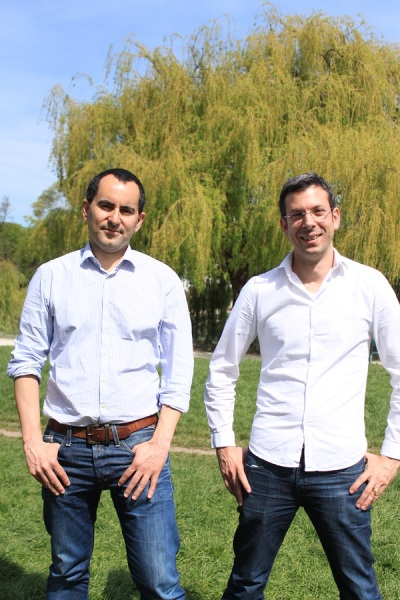 CEO Mathieu Girad [right] and and chief operating office Romain de Waubert if Amplitude Studios.