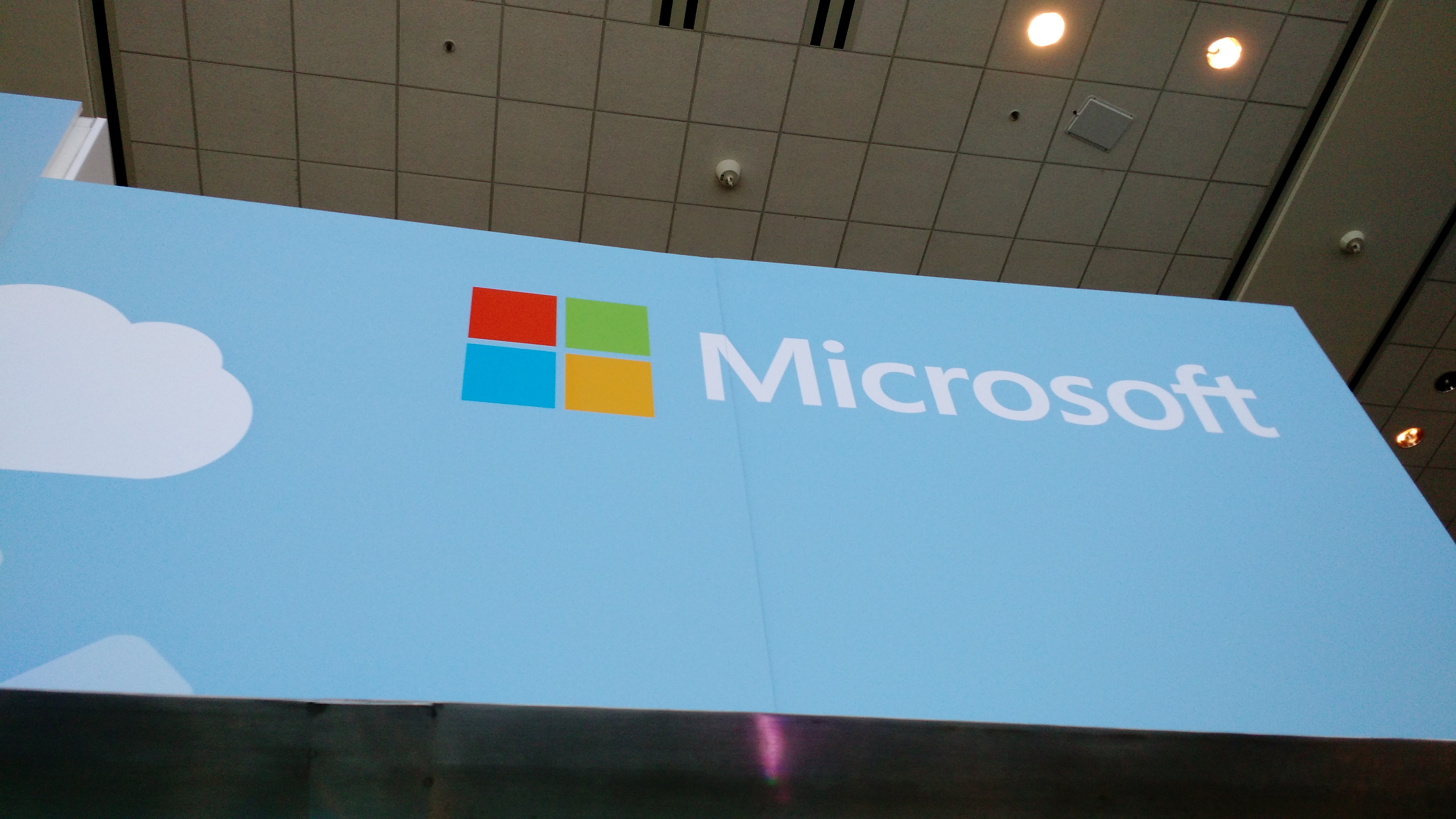 At Microsoft's 2015 Build conference in San Francisco.
