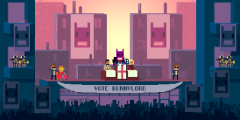 How Not a Hero put you on the mayoral campaign of a … time-traveling alien bunny