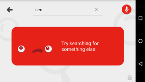 Some searches won't work on YouTube Kids.