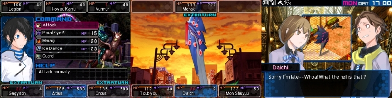 Selected screenshots from Devil Survivor 2: Record Breaker.