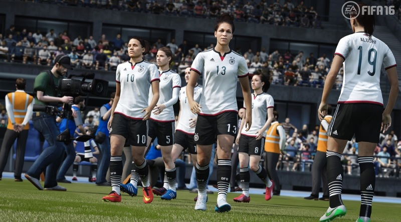 The German national women's team in FIFA 16.