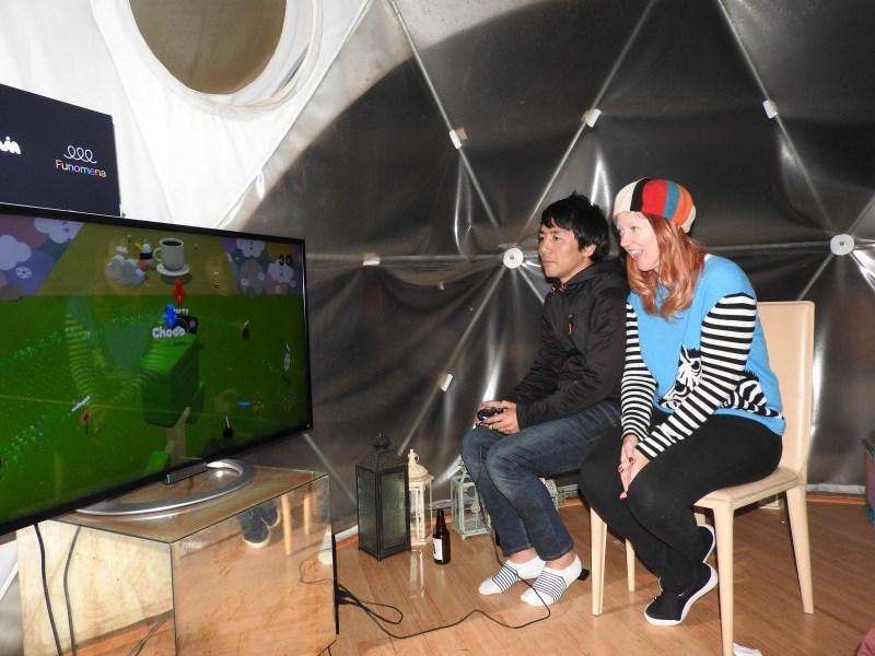 Keita Takahashi and Robin Hunicke of Funomena show off Wattam.