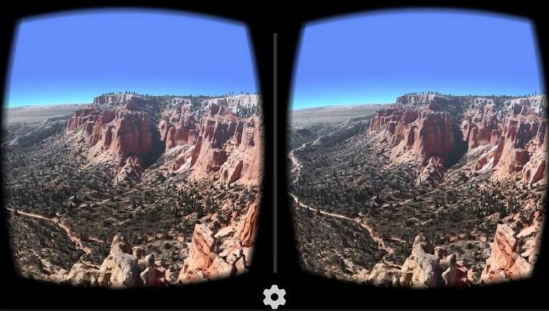 Google Earth in VR.