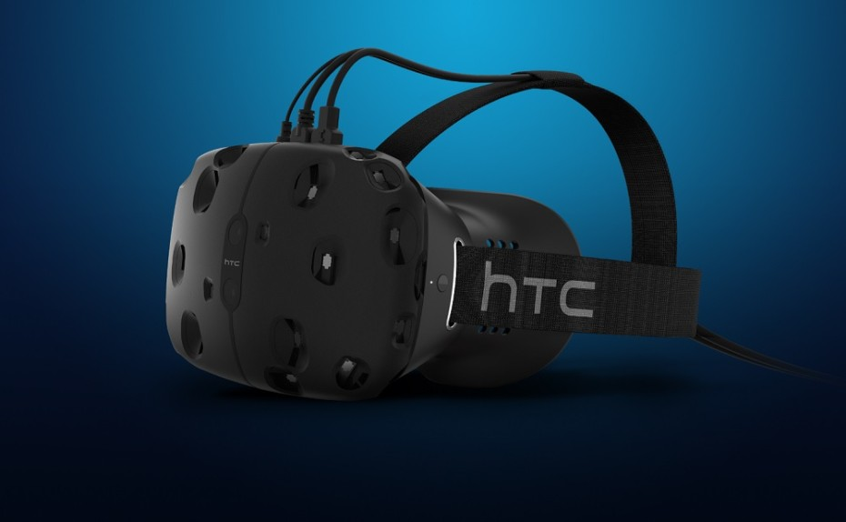 HTC Vive virtual reality headset, which uses Steam VR.