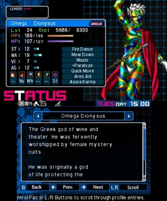 The demons in Devil Survivor 2: Record Breaker are quite colorful.