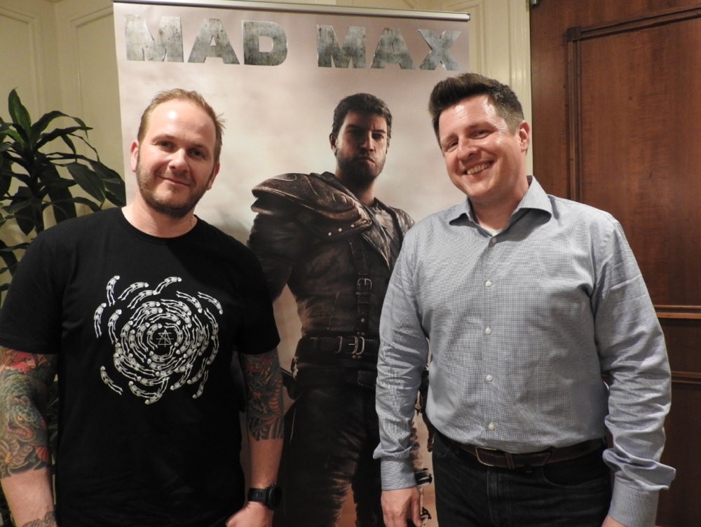 Christofer Sundberg of Avalanche Studios and Peter Wyse of Warner Bros.